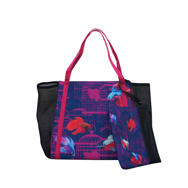 'Siamese Fighting Fish' short tote bag