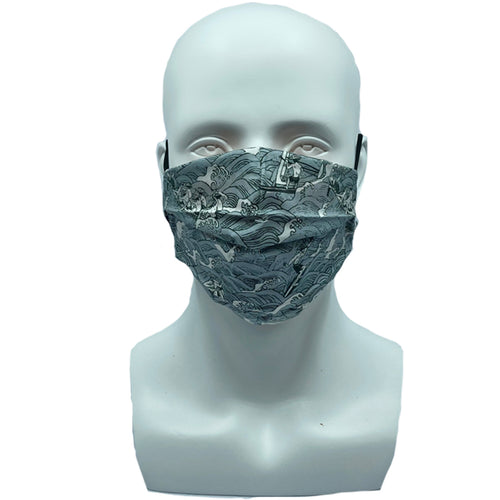 Surfing Pleated Mask
