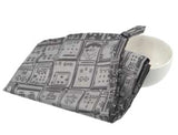 'Letterbox' Jacquard tea towel, grey
