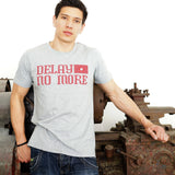 'Delay No More STAR' T-Shirt (Grey)