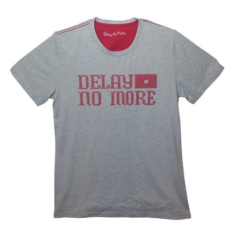 'Delay No More STAR' T-Shirt (Grey) - Goods of Desire