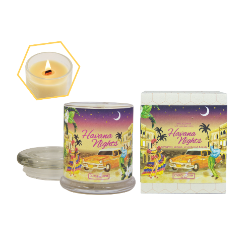 Havana Nights Beeswax Jar Candle by Carroll&Chan