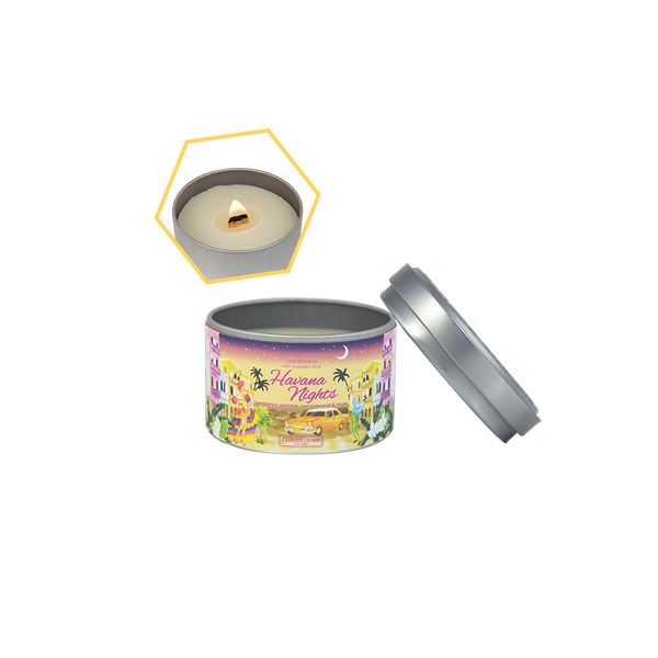 Havana Nights Beeswax Tin Candle by Carroll&Chan