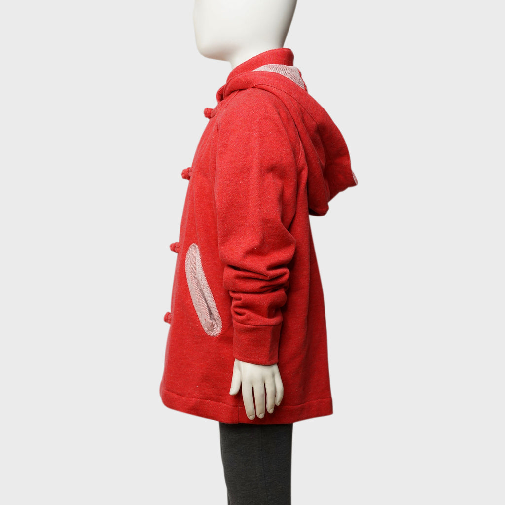'Lai On' kids hoodie (red heather)