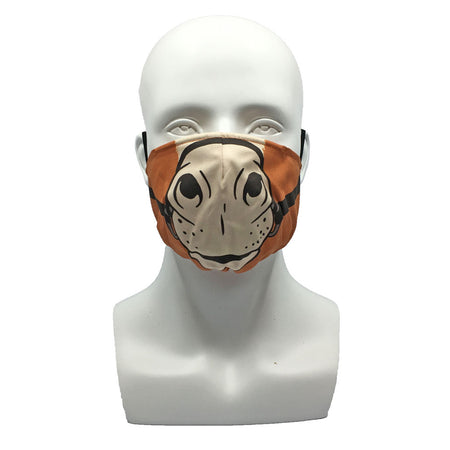 Plaid Navy Pleated Mask with Mesh Fabric Inner Layer