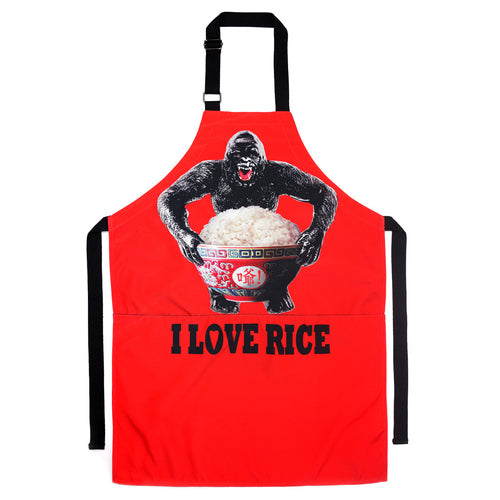 'King Kong Rice' apron