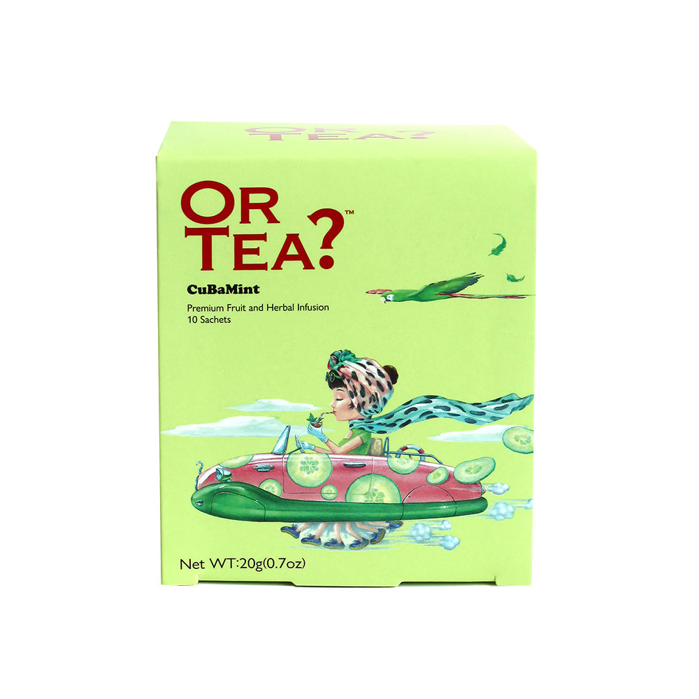 Or Tea? CuBaMint - Herbal & Fruit Infusion, 10 Sachet Box