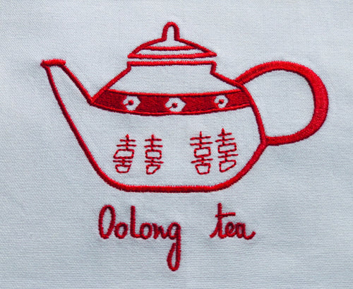Red Teapot Tea Towel by Zest of Asia