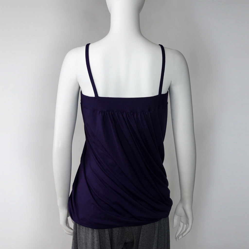 Twisted camisole (aubergine)