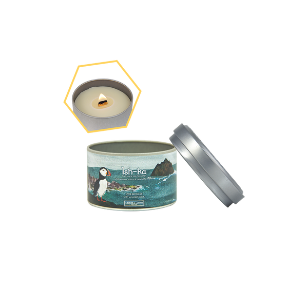 Ish-Ka Beeswax Tin Candle by Carroll&Chan