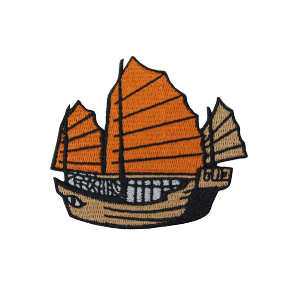 'Junk Ship' Embroidered Patch