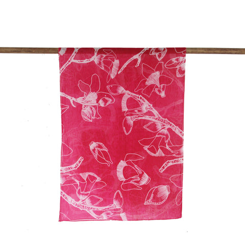'Kapok Tree' cotton scarf (fuschia)