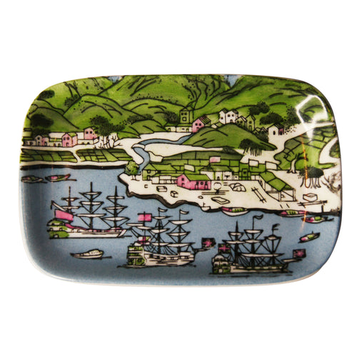 'Tsim Sha Tsui Map' handpainted soap dish