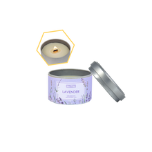 Load image into Gallery viewer, Lavender Beeswax Tin Candle by Carroll&Chan