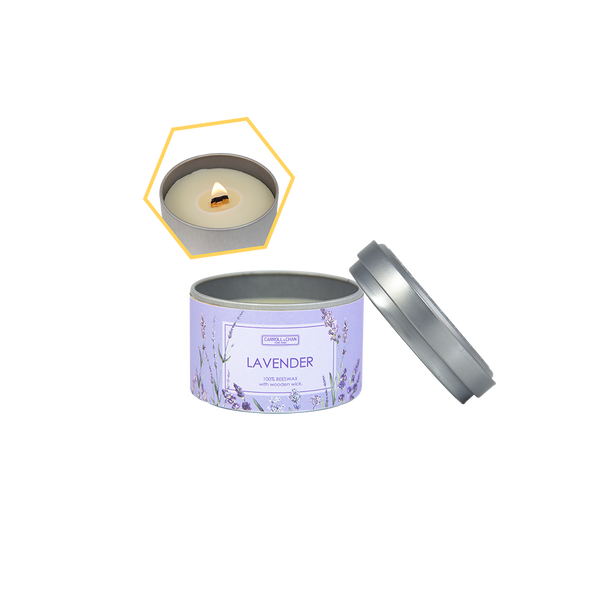 Lavender Beeswax Tin Candle by Carroll&Chan