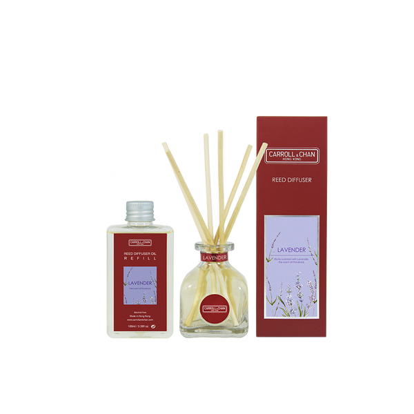 Lavender 100ml Diffuser Set by Carroll&Chan