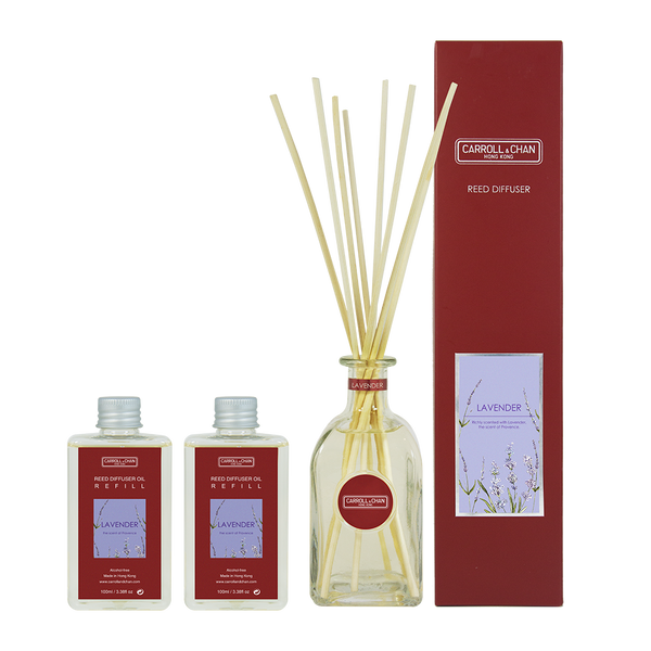 Lavender 200ml Diffuser Set by Carroll&Chan