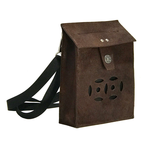 Letterbox Bag in leather (Dark brown)