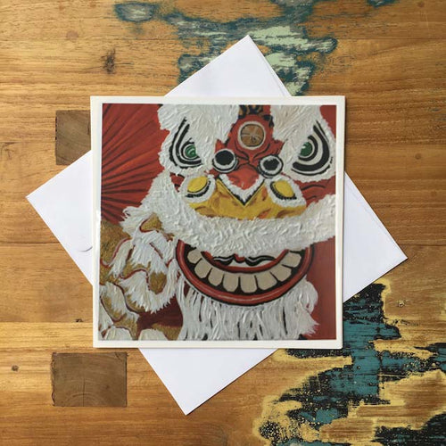 diFV-art Lion Dance Greeting Card