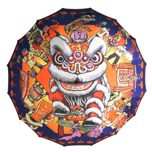 'Lion Dance' Long Umbrella