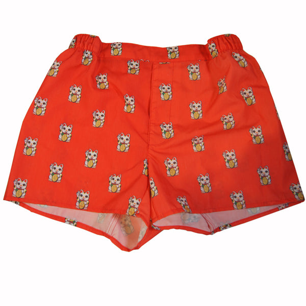 'Lucky Cat' Men's boxer shorts, Underwear, Goods of Desire, Goods of Desire