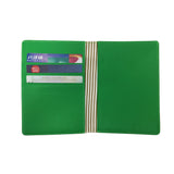 'Mahjong' passport holder with leather