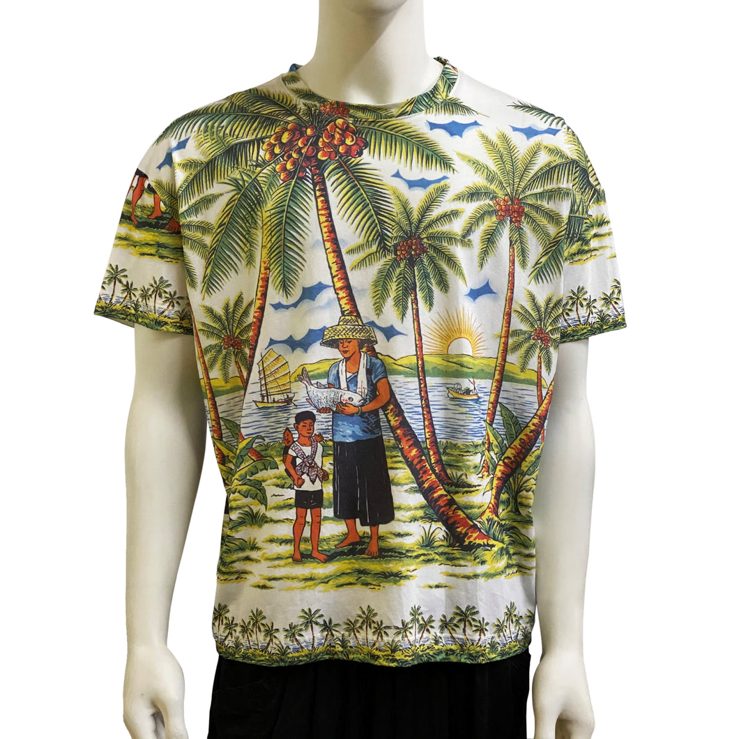 Oversize Drop Shoulder Tee, Tropical HK