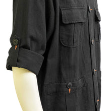 Load image into Gallery viewer, Four Pockets Mao Jacket, Black