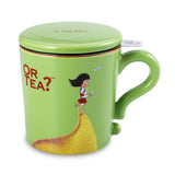 Or Tea MUG w/lid & tea strainer - Green
