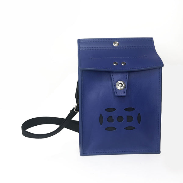 Letterbox Bag in leather (Blue)