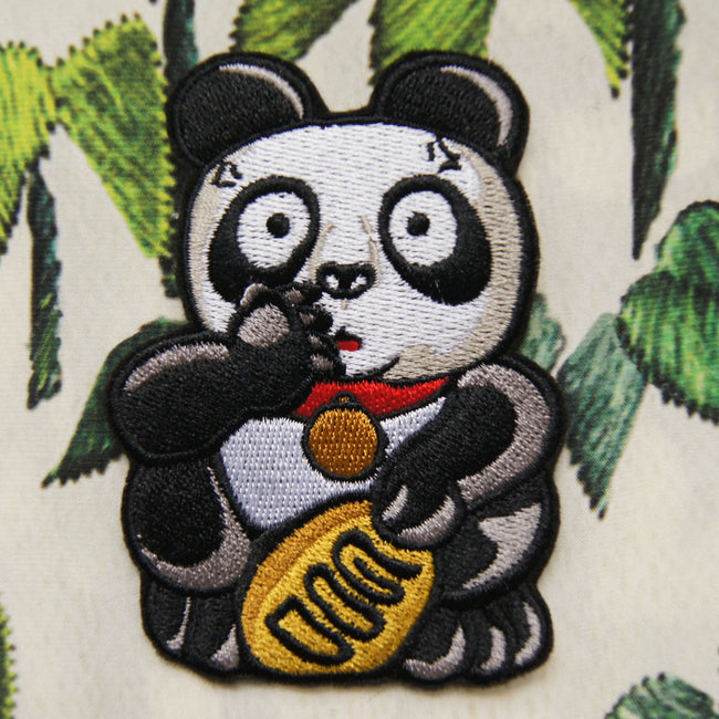 'Panda (Shocked)' embroidered patch