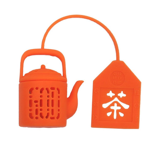 'Mini Teapot' Electric Orange Tea Infuser