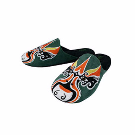 Betta 'Chinese Opera Man' slippers (forest green)