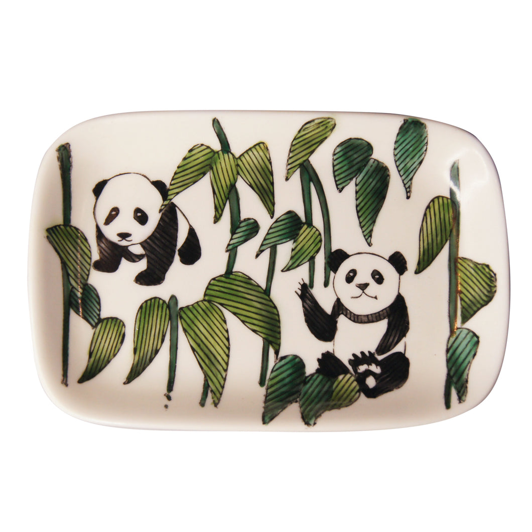 'Panda Bamboo' Hand-painted Soap Dish