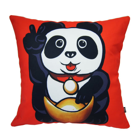'Lucky Cat - I Hear No Evil' cushion cover