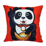 'Lucky Panda' cushion cover