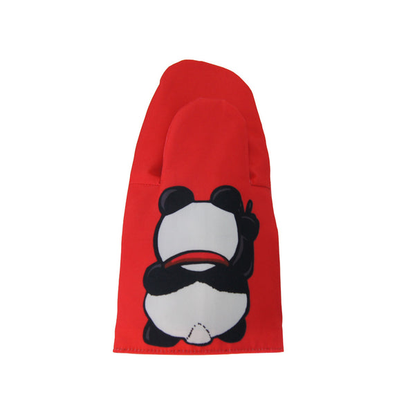 'Lucky Panda' oven mitt, red    , Kitchenware, Goods of Desire, Goods of Desire
