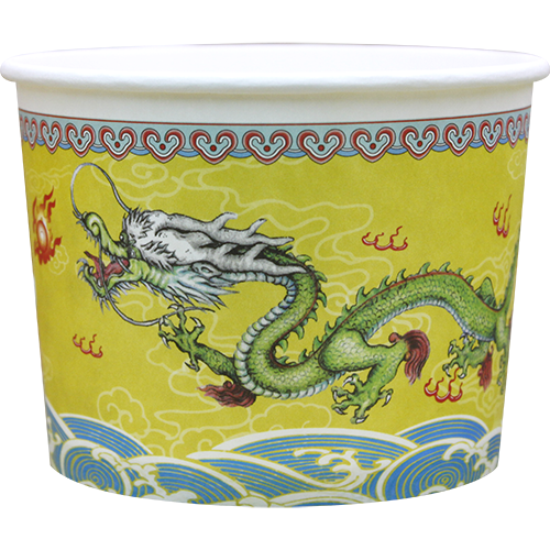 'Golden Dragon' Paper Bowls