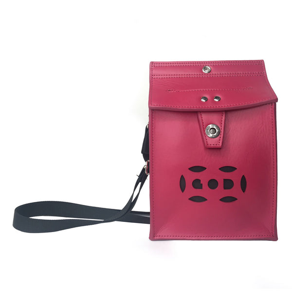 Letterbox Bag in leather (Red)