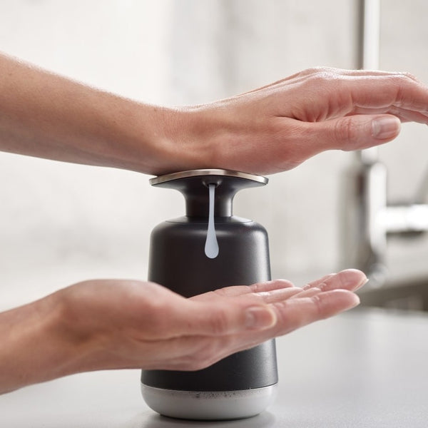 Presto Soap Dispenser, Grey by Joseph Joseph