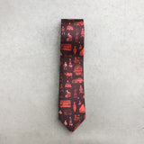 'Hong Kong Districts' tie (burgundy)