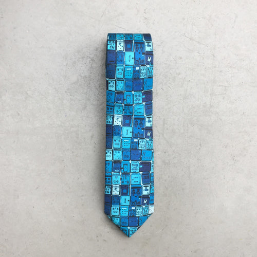 'Letterbox' tie (cerulean)