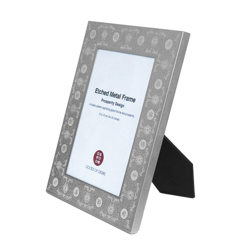 'Prosperity' 4R Photo Frame, Silver