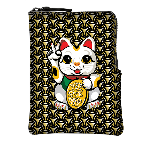 'Lucky Cat Armour' Crossbody Phone Pouch