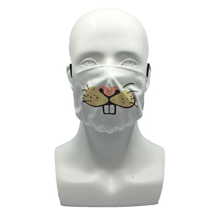 One Layer Fabric Ruffle Mask with Adjustable String, RAT