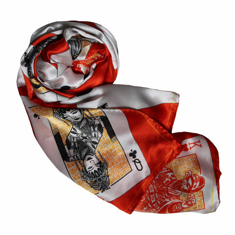 'Fifty-two Pickup' silk scarf