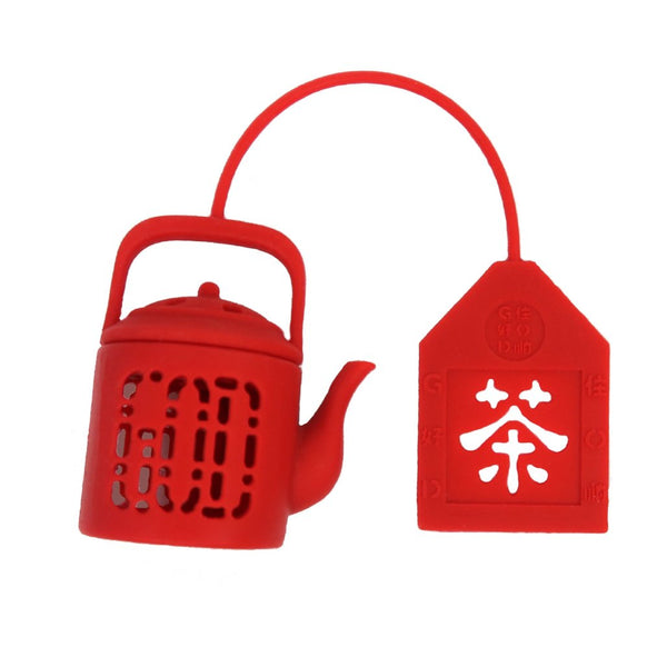 'Mini Teapot' tea infuser (Red)