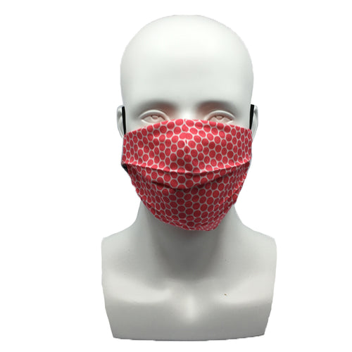 Dots Fuchsia Pleated Mask