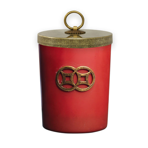 'Red Dusk' Double Coin Jar Candle