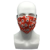 Flowers Red Pleated Mask
